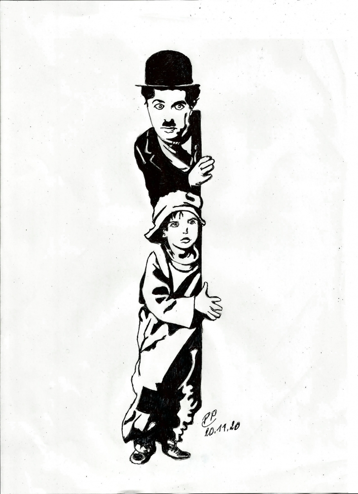 Charlie Chaplin by Patoux